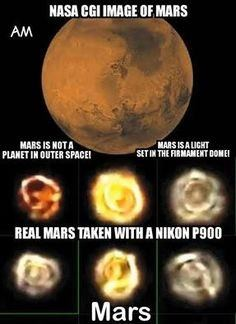 Do Flat Earth Supporters think that other planets Mars