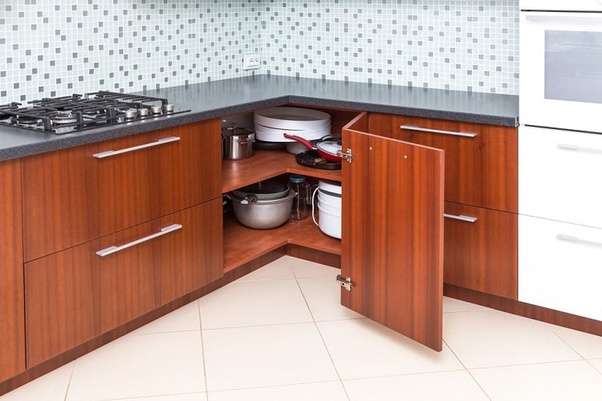 some corner cabinet ideas for a kitchen