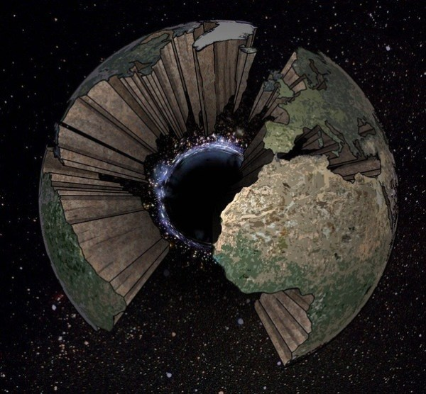 What would happen to Earth if a tiny black hole (the size ...