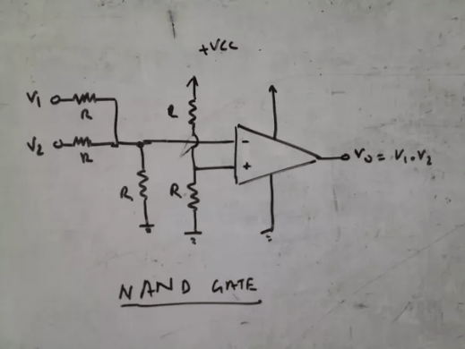Can we design logic gates using an op amp  If so  how    Quora NAND gate