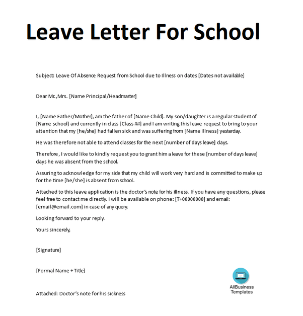 How To Write An Excuse Letter To School For My Daughter Due To Vacation Quora