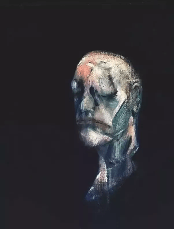 What are some examples of sad paintings made by famous artists    Quora Francis Bacon  After the death mask of William Blake