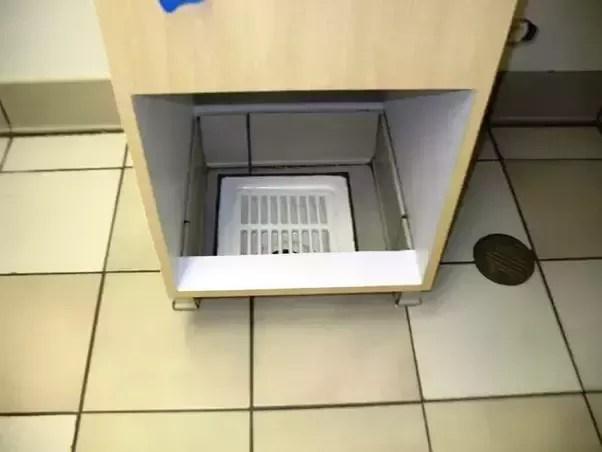 a floor drain and a floor sink