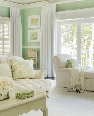 Which colored curtains go with green walls    Quora