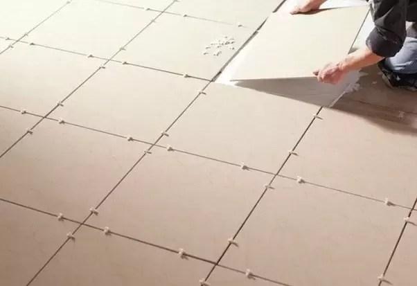 where do you start tiling the flooring