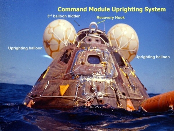Was there a problem with one of the Apollo command modules ...