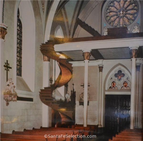 What Is The Mystery Behind The Loretto Chapel Staircase Quora   Chapel With Spiral Staircase   Catholic Church   Stairway   Miraculous   Choir Loft   Sante Fe