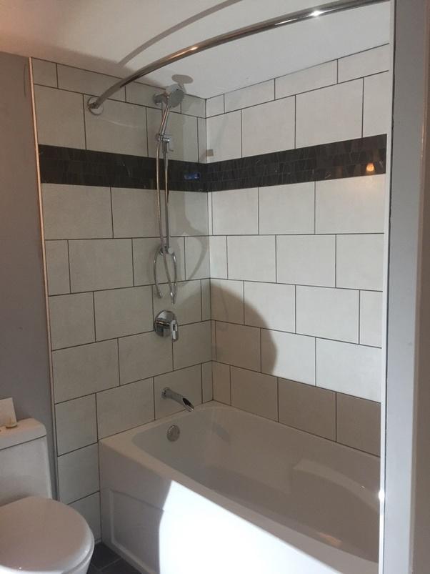 lay a 12x24 tile in a small bathroom