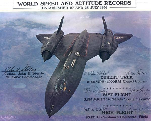 What is the actual top speed of an SR-71 in level flight ...