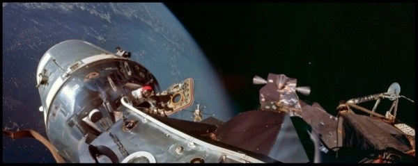 During Apollo 11, how did they practice docking the lunar ...