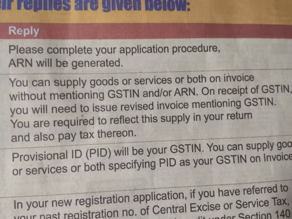 Can we use an ARN as a GST number    Quora You can use ARN till you receive GSTIN post which you have to reissue  invoice using GSTIN