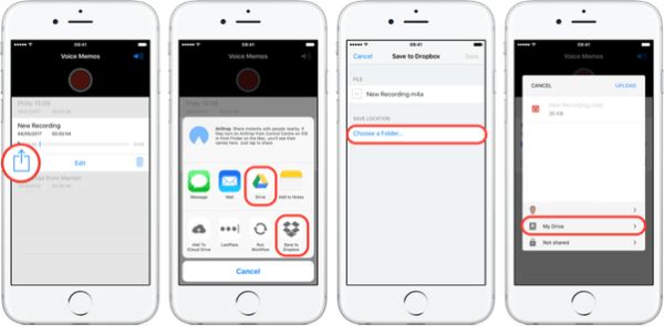 How to upload voice memos on my iPhone directly to Dropbox ...