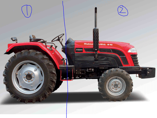 vertical exhaust system in a tractor