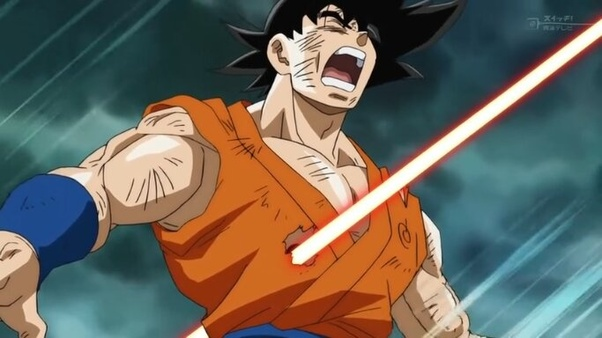 Goku wins he can complain to toriyama how it's unfair so he gets limit breaker full power mui super saiyan blue evolution 4 kaioken x20 and gains a lot of plot armour. Can Naruto beat Goku? - Quora