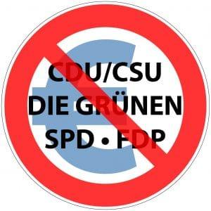 Verbot von Parteien CDU CSU SPD FDP GRUENE und Euro