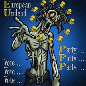 European Undead zombie EU Party Leichen