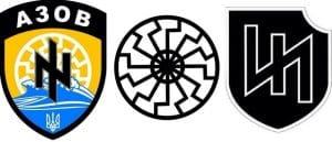 ukraine symbole nazis wolfsangel ss-runen und asow batallion