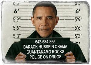 Barack Hussein Obama Mug shot Knast Bild inmate Insasse Prison Knast industrie haeftling