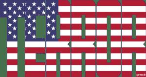 USA Flag Flagge Terror Imperialism Fahne Symbol Macht Weltherrschaft Gewalt Krieg Unterdrueckung weiss qpress