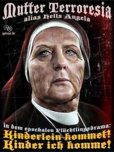 Angela_Merkel_CDU_Bundesmutti_Raute_Bundeskanzlerin_Terror_Mutter_Teresa_Terroresia_der_Nation_alternativlos_Flucht_Hexe_Nonne_DDR_FDJ_Ungarn-Oeterreich_Krise_Drama_Leid_Elend