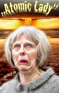 Theresa May the new Atomic Lady of Great Britan