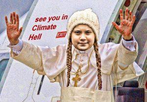 Heilige Greta demnächst mit Esel auf CO2-Spartour