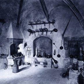 Nachbildung eines Laboratoriums im Technikmuseum München