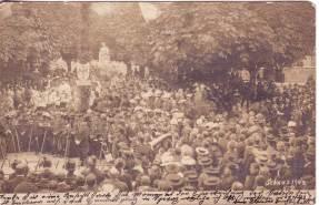 Einweihung Barbarastatue 1902