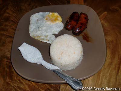 Longaniza with egg