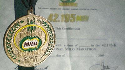 Milo Marathon Finisher's Medal