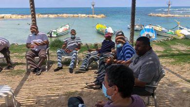 Photo of مظاهرة بمحاذاة شارع ٢ بجانب قرية جسر الزرقاء احتجاجا على هدم مبنى للصيادين
