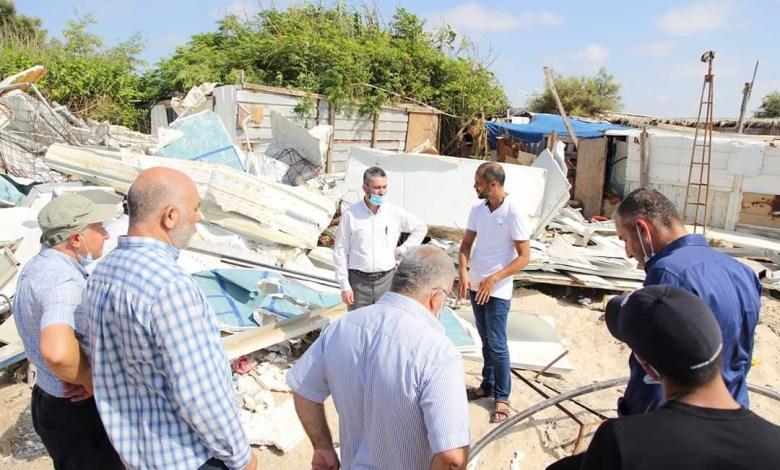 صورة جسر الزرقاء؛ أمر هدم ثان ضد مخزن الصياد علي جربان
