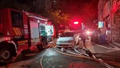 صورة القدس: تخليص عشرات العالقين جراء حريق كبير
