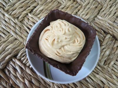 mousse en copa de chocolate
