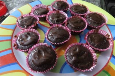 magdalenas de banana y chocolate