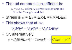 A short derivation of the Stress-Vibration velocity relation upon which vibration risk criteria are founded. This relation is applicable at and near resonance only.