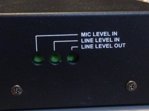Mic and line levels are adjustable by recessed pots on the right side of the Patriot