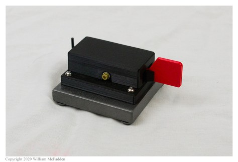 "CW Morse ""Red Single Paddle Morse Code Key With Base"""