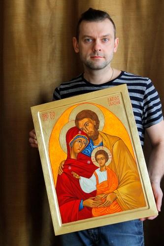 Przezentuję ikonę Świętej Rodziny.