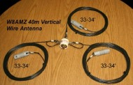 40 METER 1/4 WAVE VERTICAL WIRE-MONOPOLE by W8AMZ