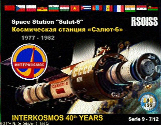 Many Post ARISS-Russia Interkosmos Slow-Scan Television (SSTV