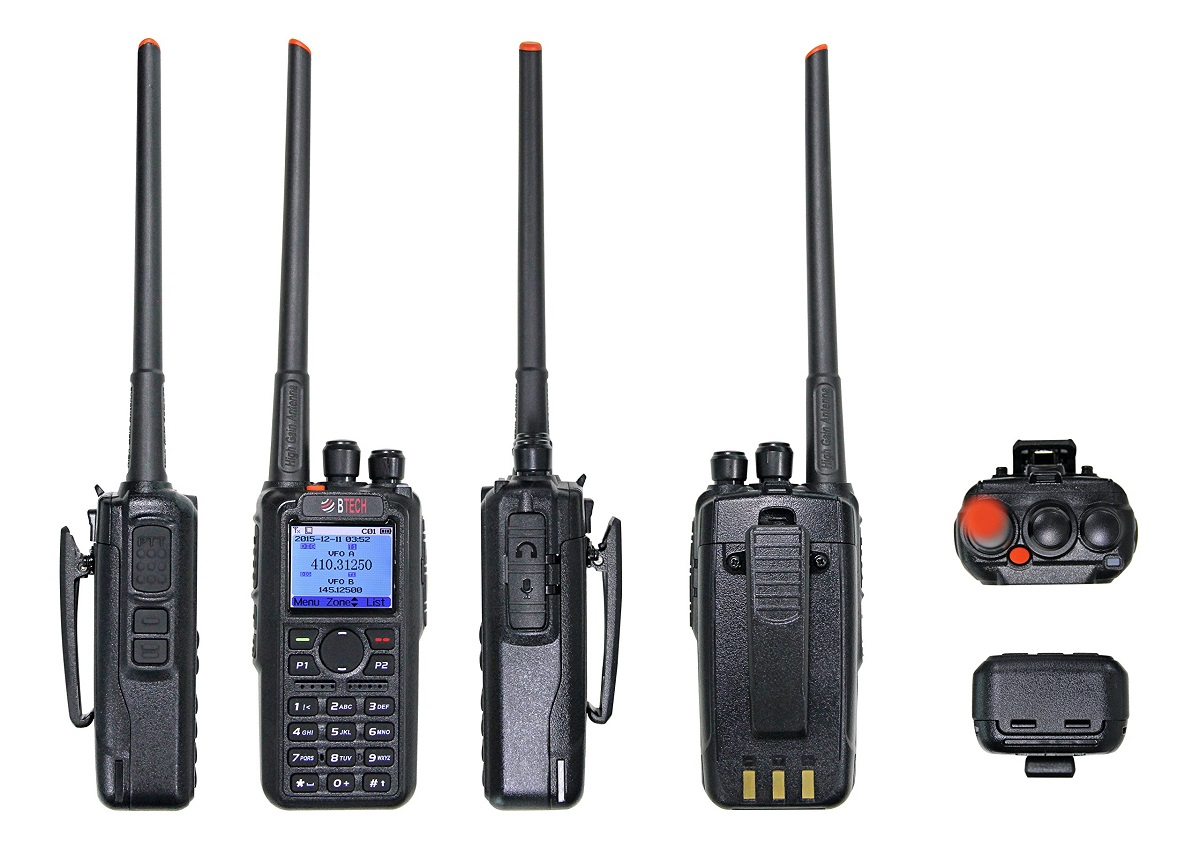 BTECH DMR-6X2 Digital (DMR) & Analog Two-Way Radio (with GPS and