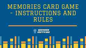 Read more about the article Memories Card Game – Instructions and Rules