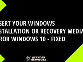 Insert your Windows installation or recovery media error
