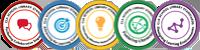 CLA badge stack