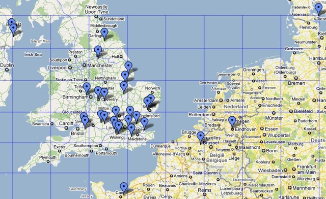 Stations worked during the 144MHz UKAC in May