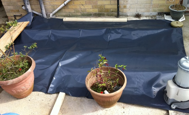 Covered up, ready for the forecasted rain