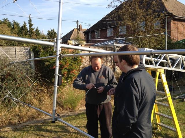 Fixing the Cushcraft MA5B to the stub mast