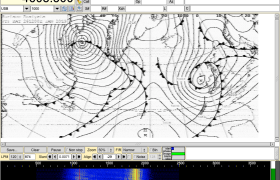 fldigi receiving a WEFAX image from the Northwood transmitter