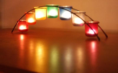 Welcome the New Year with rainbow candles! Bridge of Light honors LGBTQ culture